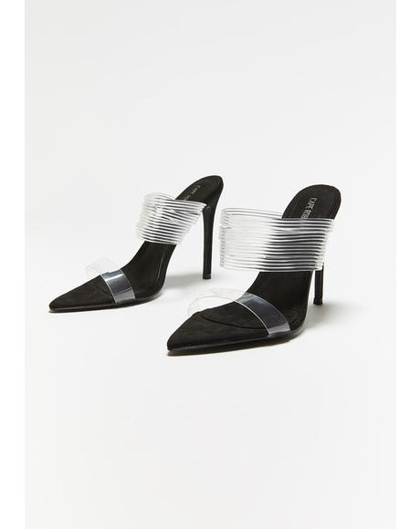 Boardroom Bish Clear Heels