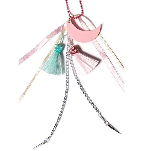 Suzywan Deluxe Moon Tassel Necklace