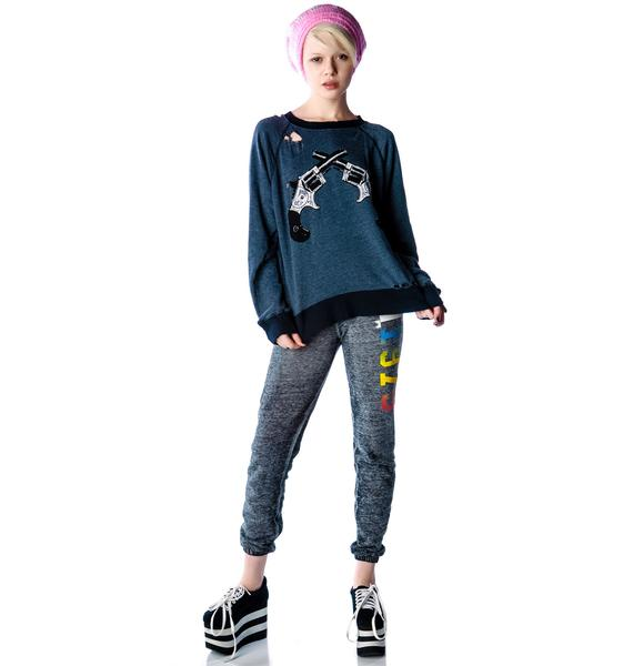 Wildfox Couture Showdown Destroyed Sweater