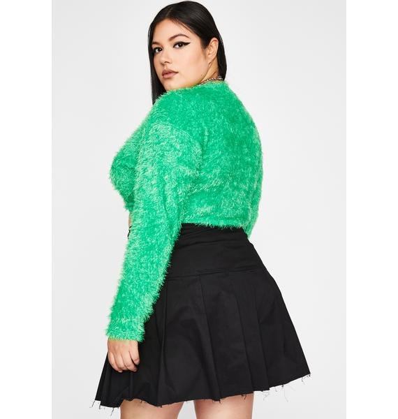 Shamrock Don't Get It Twisted Crop Sweater