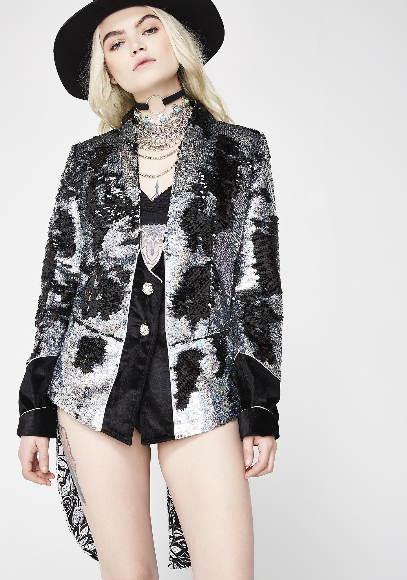 Love Khaos Sequin Tailcoat