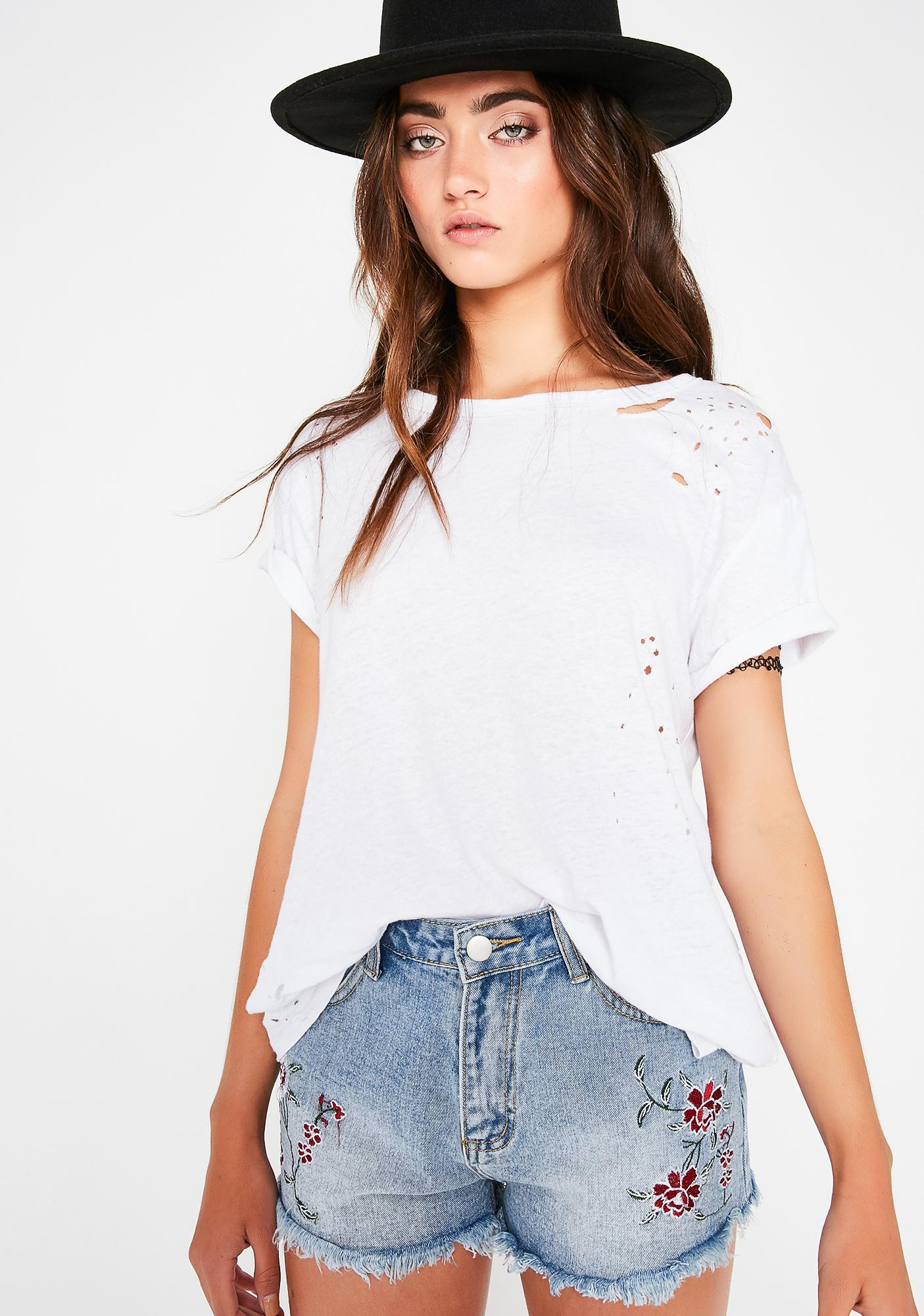 Fresh Bloomer Embroidered Shorts