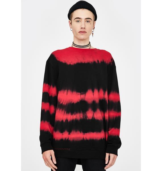 Disturbia Kurt Tie Dye Sweatshirt