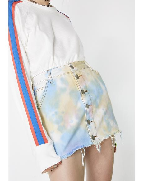 Candy Clouds Denim Skirt