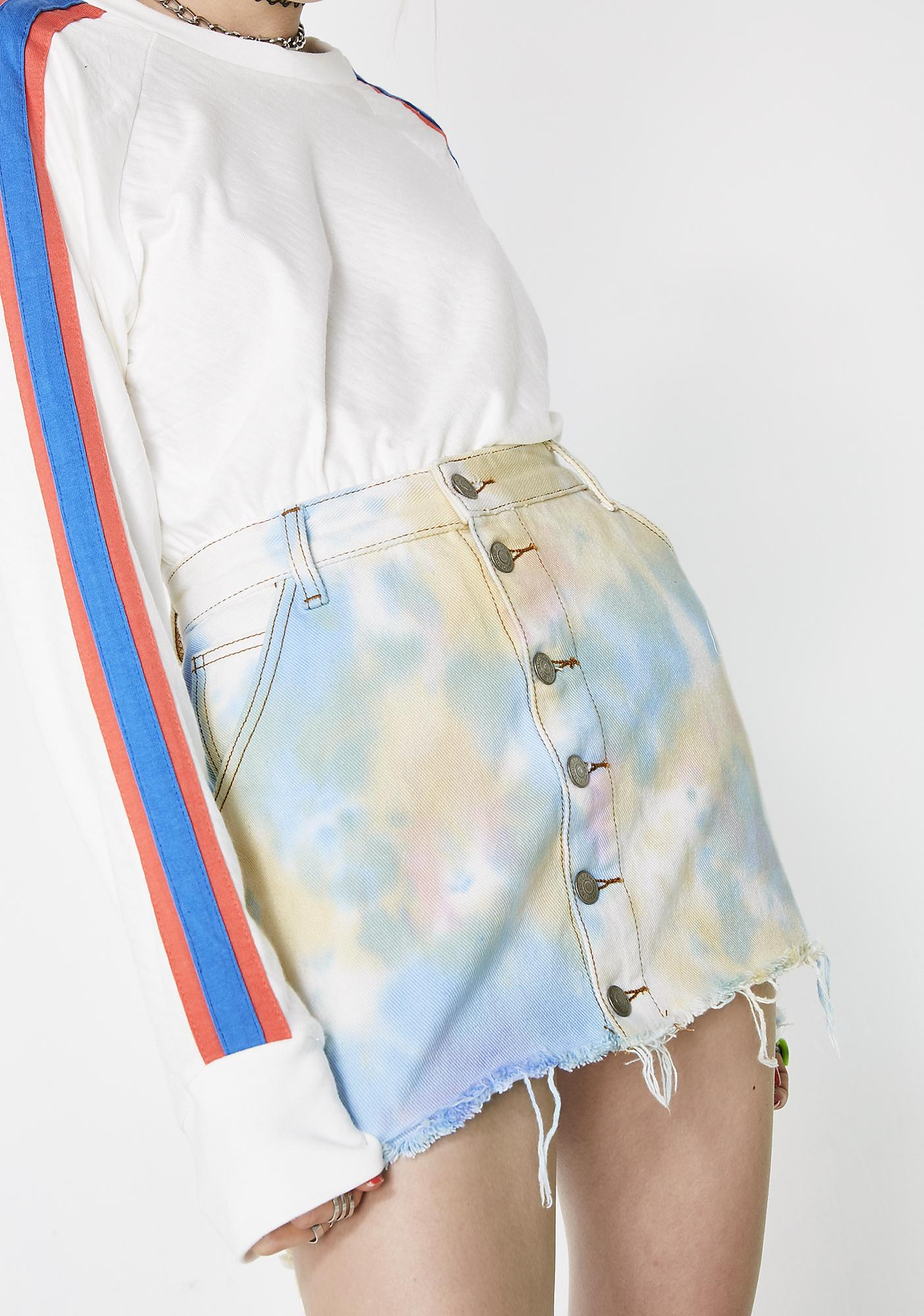 Glamorous Candy Clouds Denim Skirt