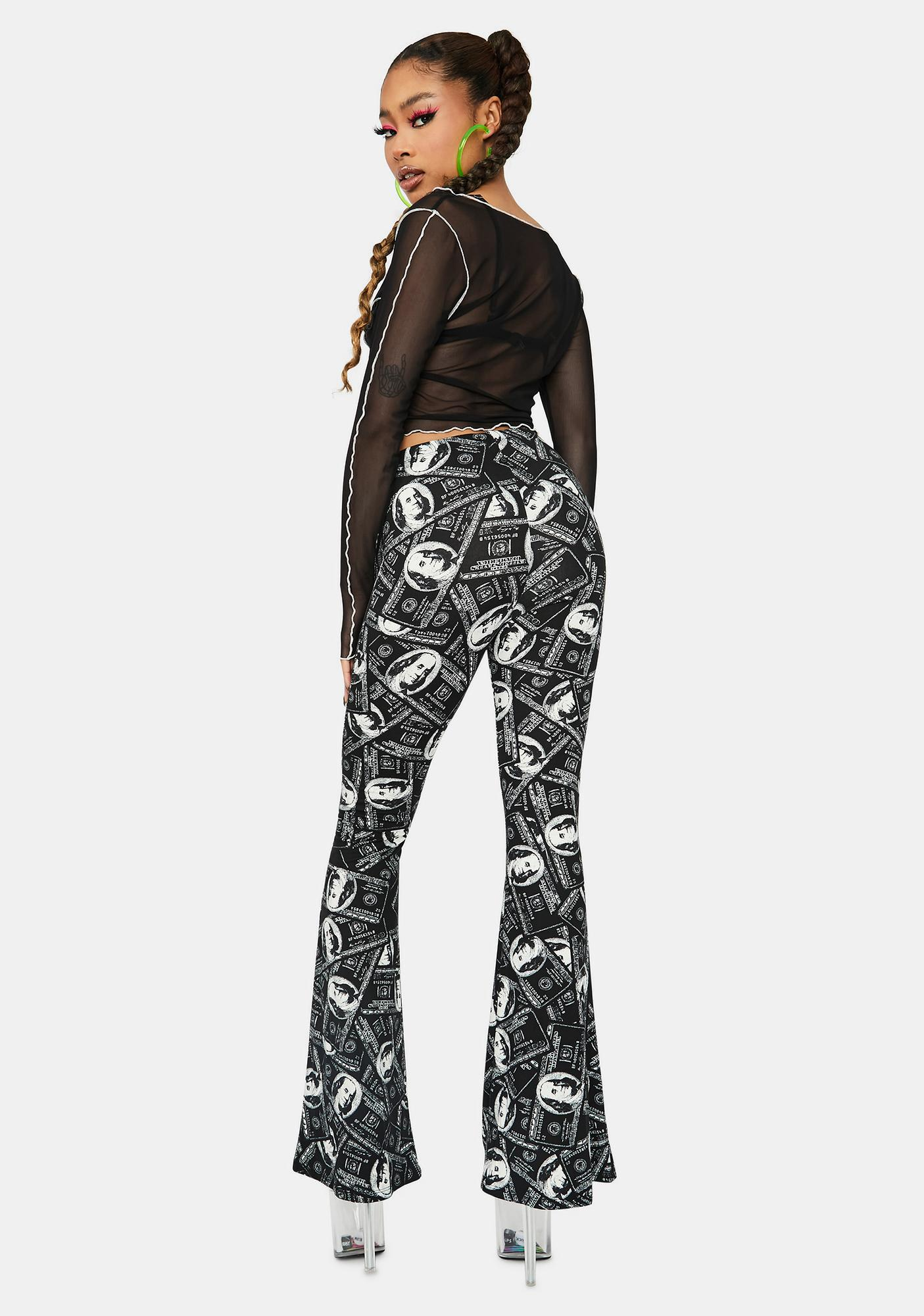 Money Attractor Flared Pants