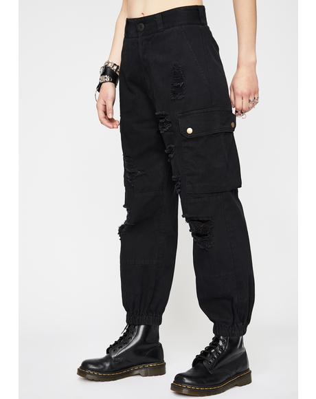 Pants Black Army Green Fashion New Gothic Cotton Sweatpants 2019 Japanese Retro Tooling Jumpsuit Casual Cropped Trousers Khaki