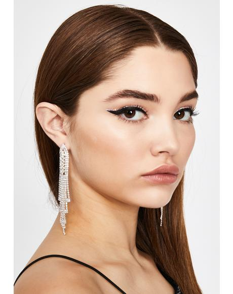 Cascading Fantasy Rhinestone Earrings