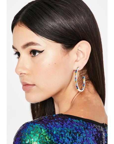 Look My Way Rhinestone Hoops