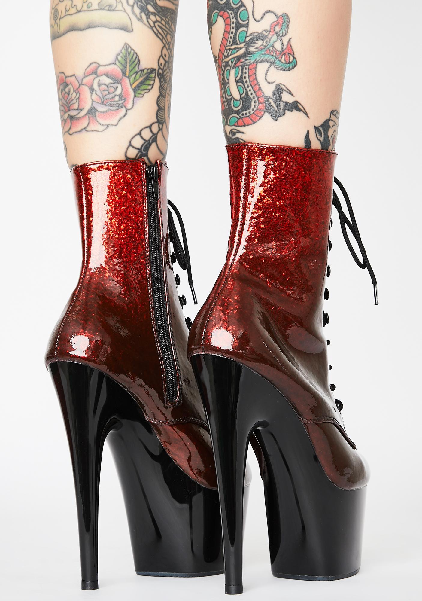 Pleaser Hellish Player's Club Adore Platform Heels