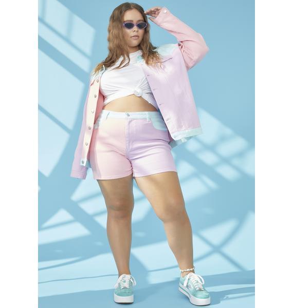 dELiA*s by Dolls Kill Pool Sweet Crush On U Colorblock Shorts