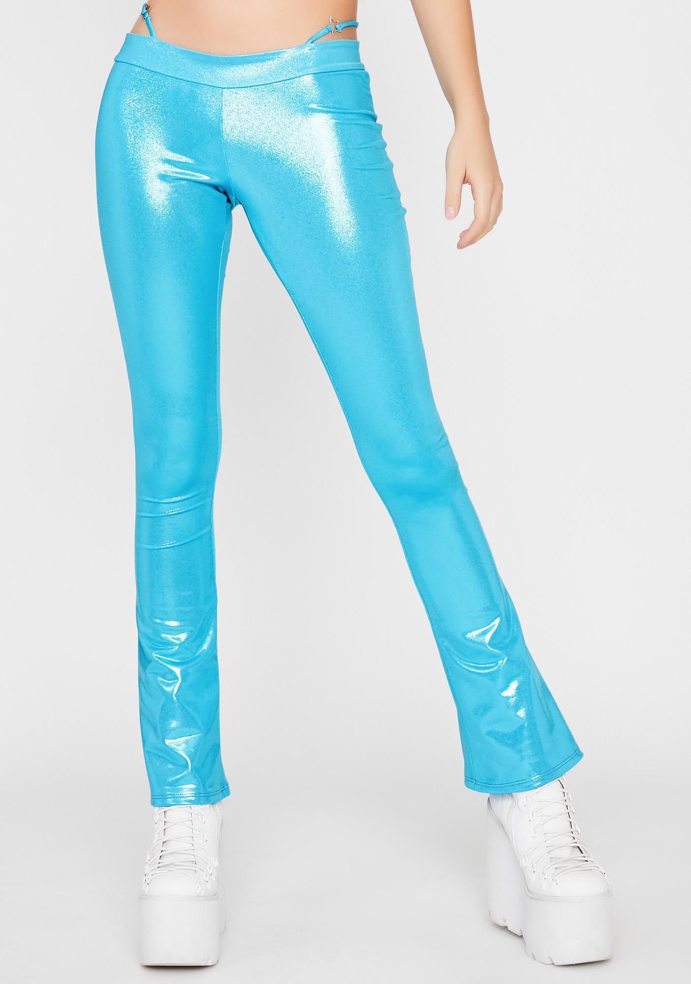 Aqua Nuclear Waves G-String Pants