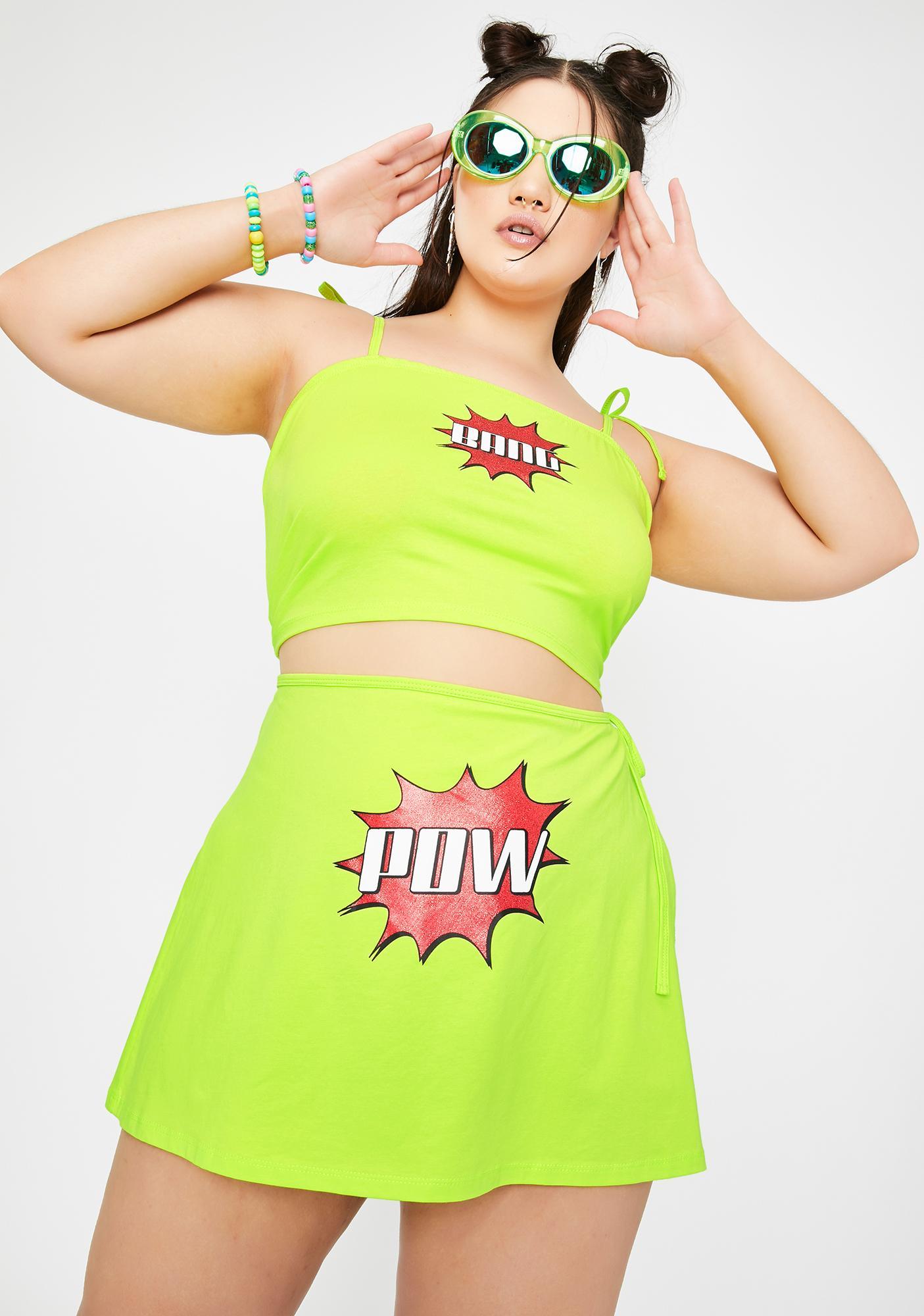 Club Exx Fierce Double Whammy Mini Skirt