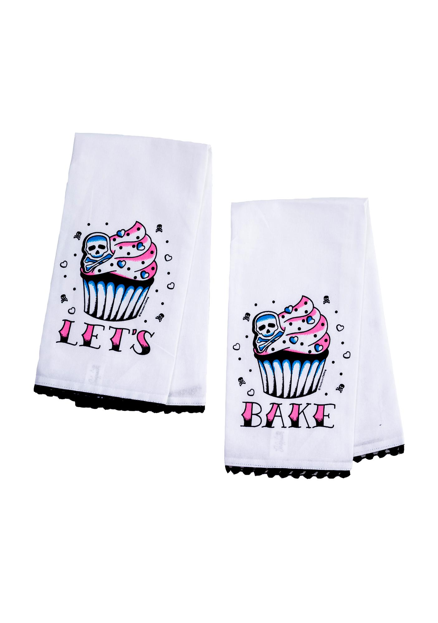Sourpuss Clothing Let's Bake Tea Towel Set