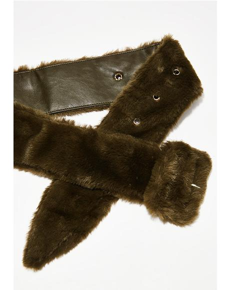 Olive Embrace This Fuzz Belt