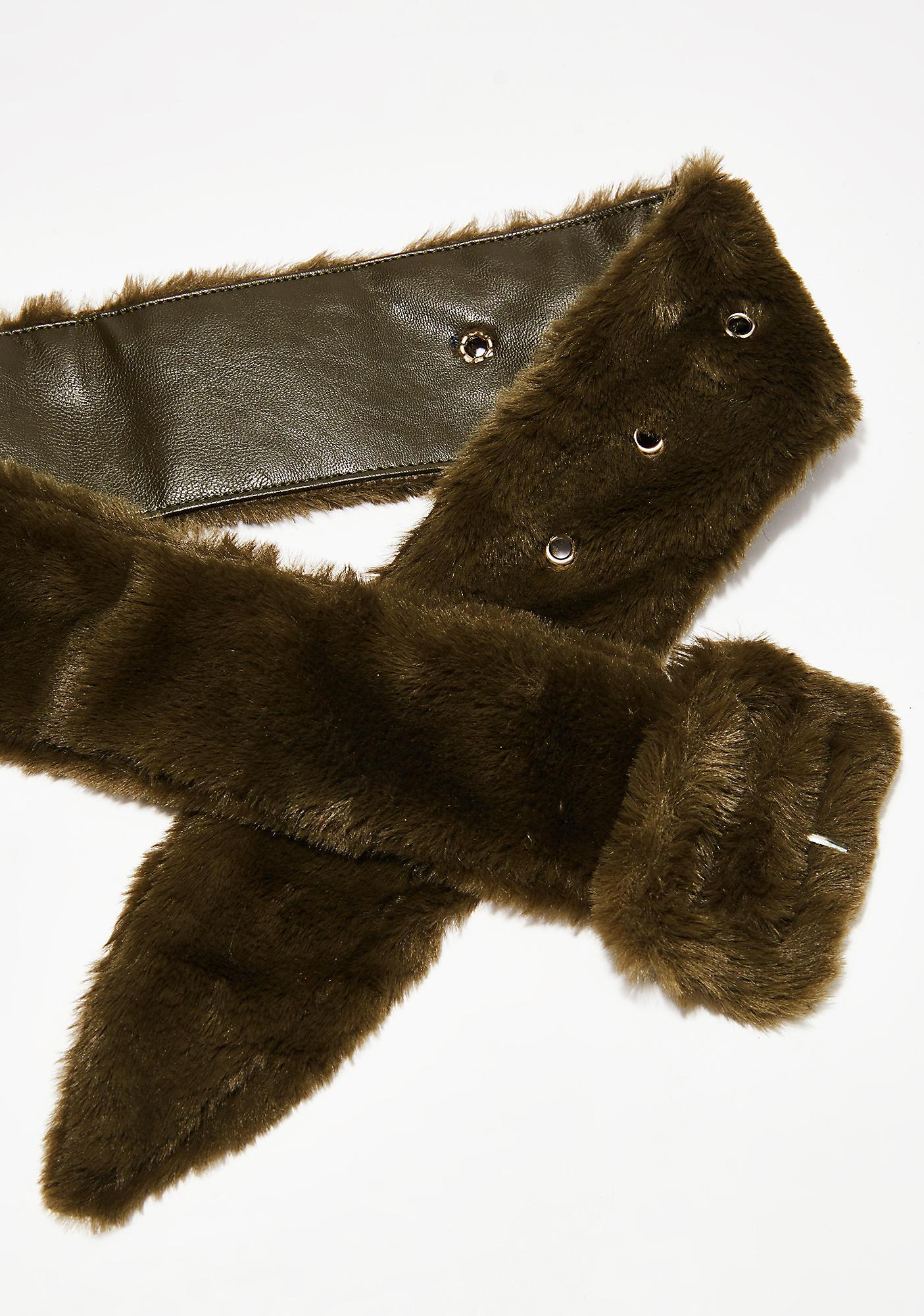 Olive Embrace This Fuzz Belt