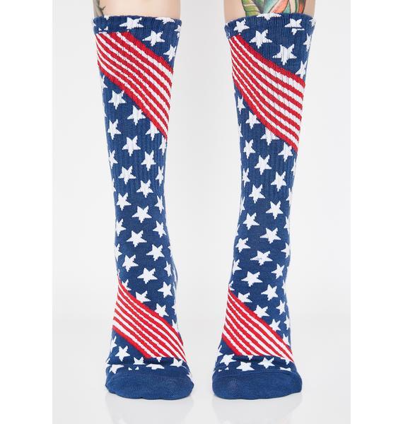 HUF Huf USA Socks