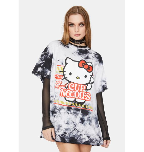 Hello Kitty x Cup Noodles Hello Kitty Tie Dye Oversized Graphic Tee