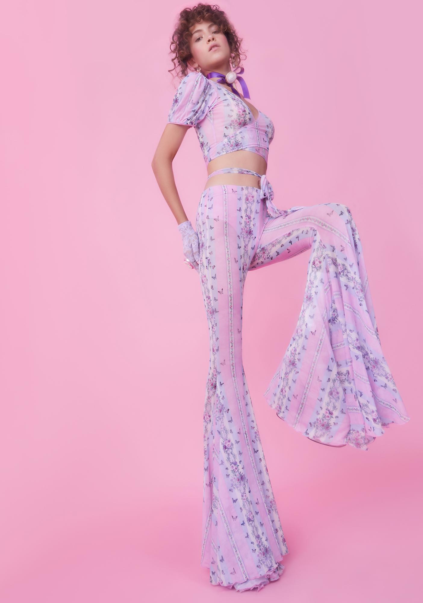 Sugar Thrillz Queen Diaries Flare Pants