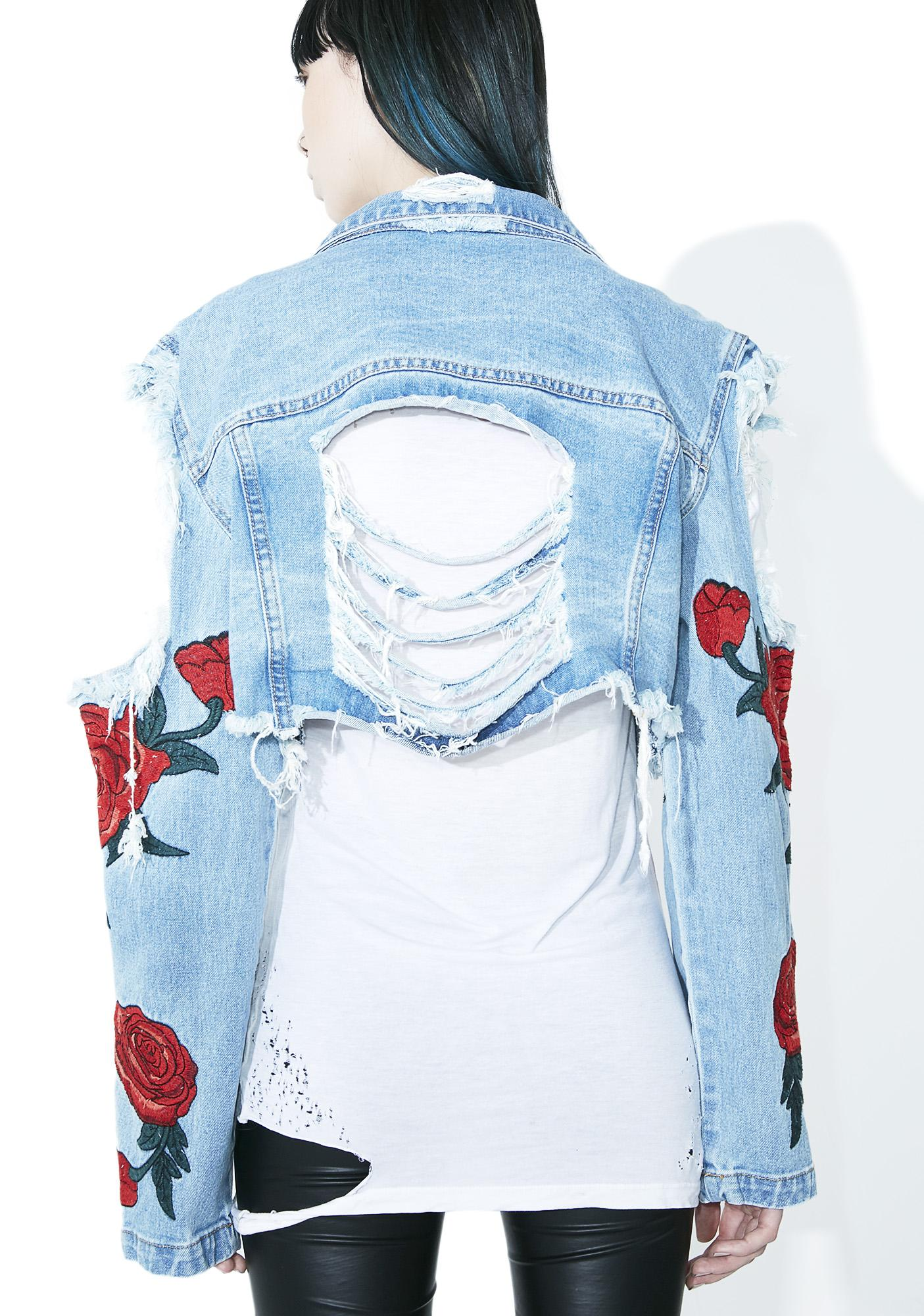 Desert Rose Distressed Jacket
