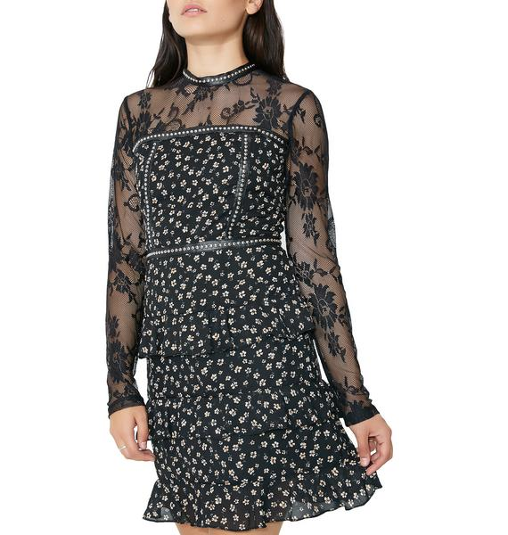 Glamorous Ditsy Daisy Floral Dress