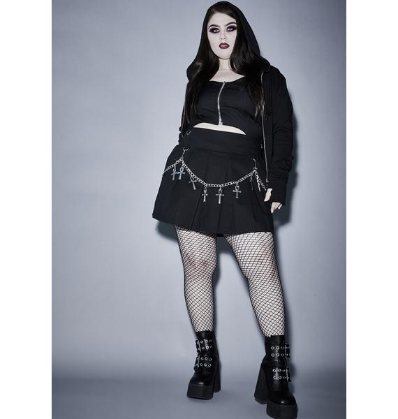 Widow Ur Hexed For Life Pleated Skirt