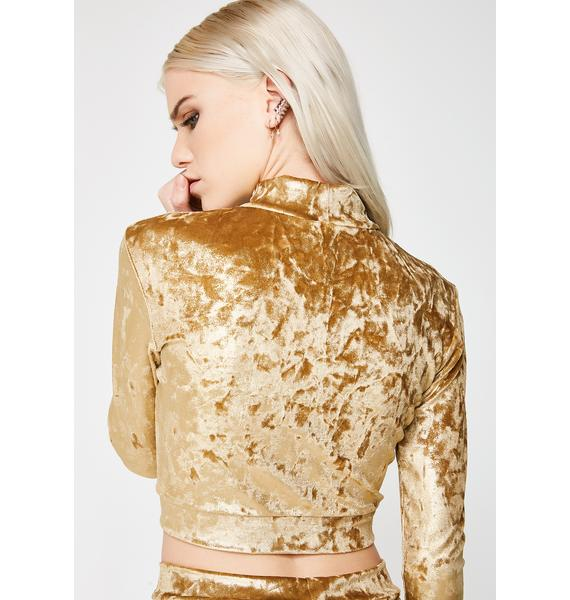 Sugarpuss Go For Gold Crop Top