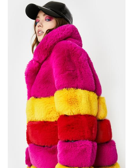 Rami Faux Fur Long Coat