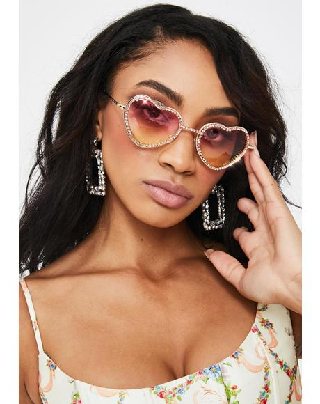 Sugar Buy My Love Rhinestone Sunglasses