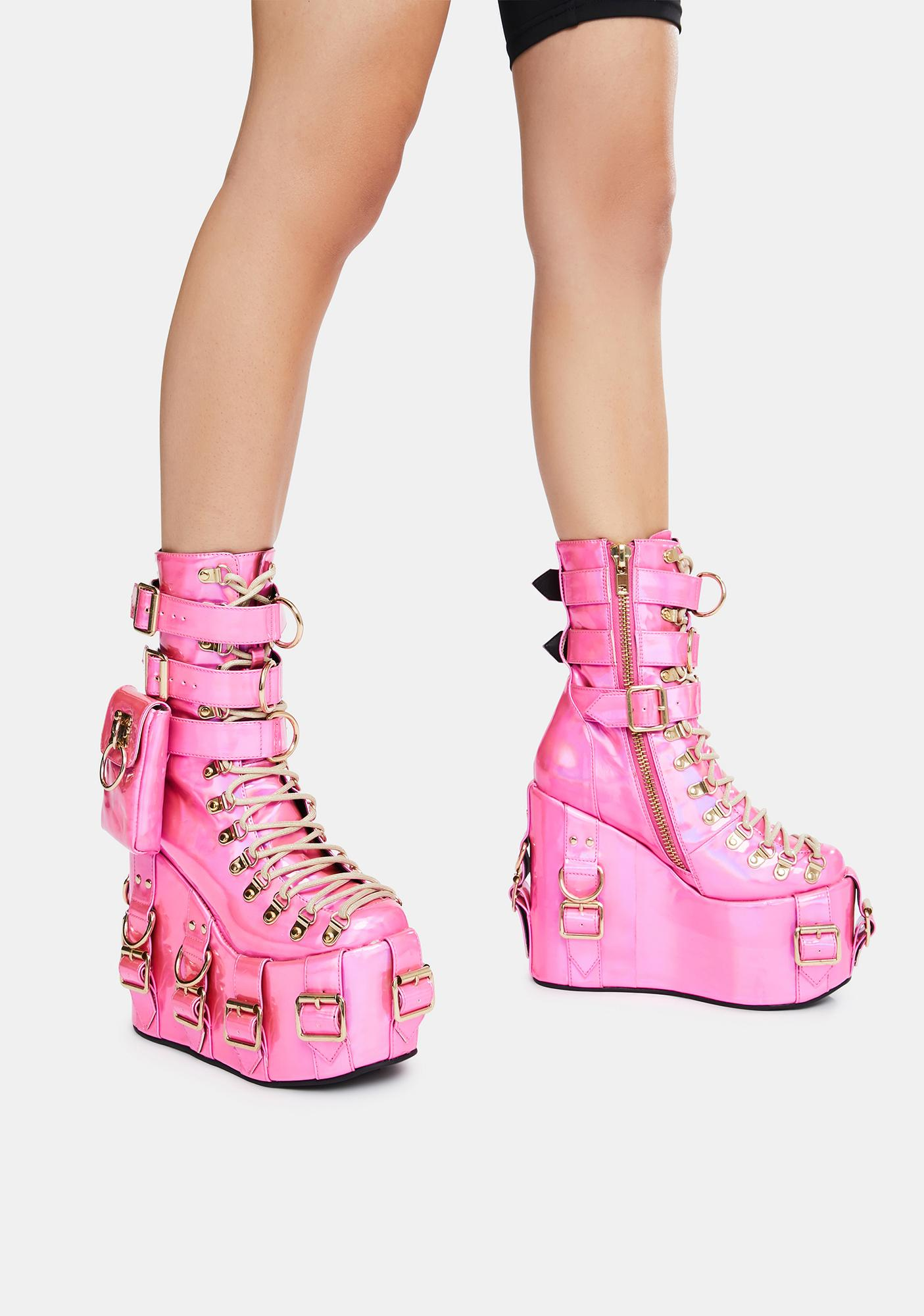 Club Exx Sweetest Bounty Holographic Traitor Boots