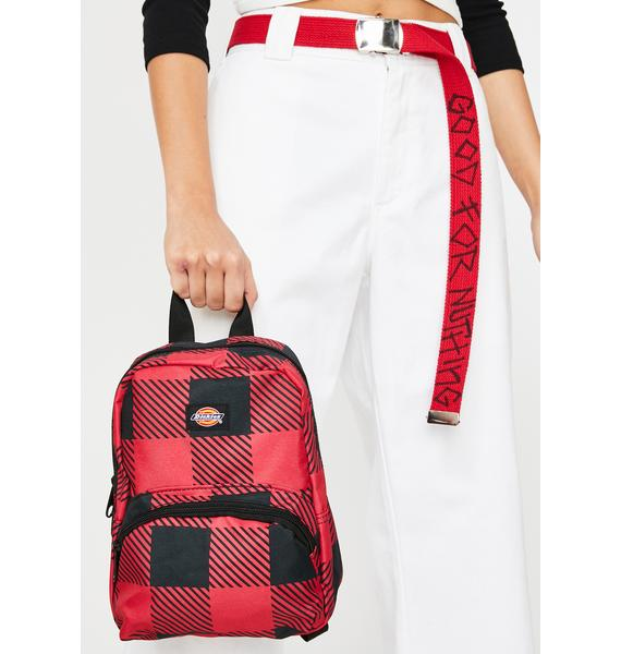 Dickies Buffalo Plaid Mini Backpack
