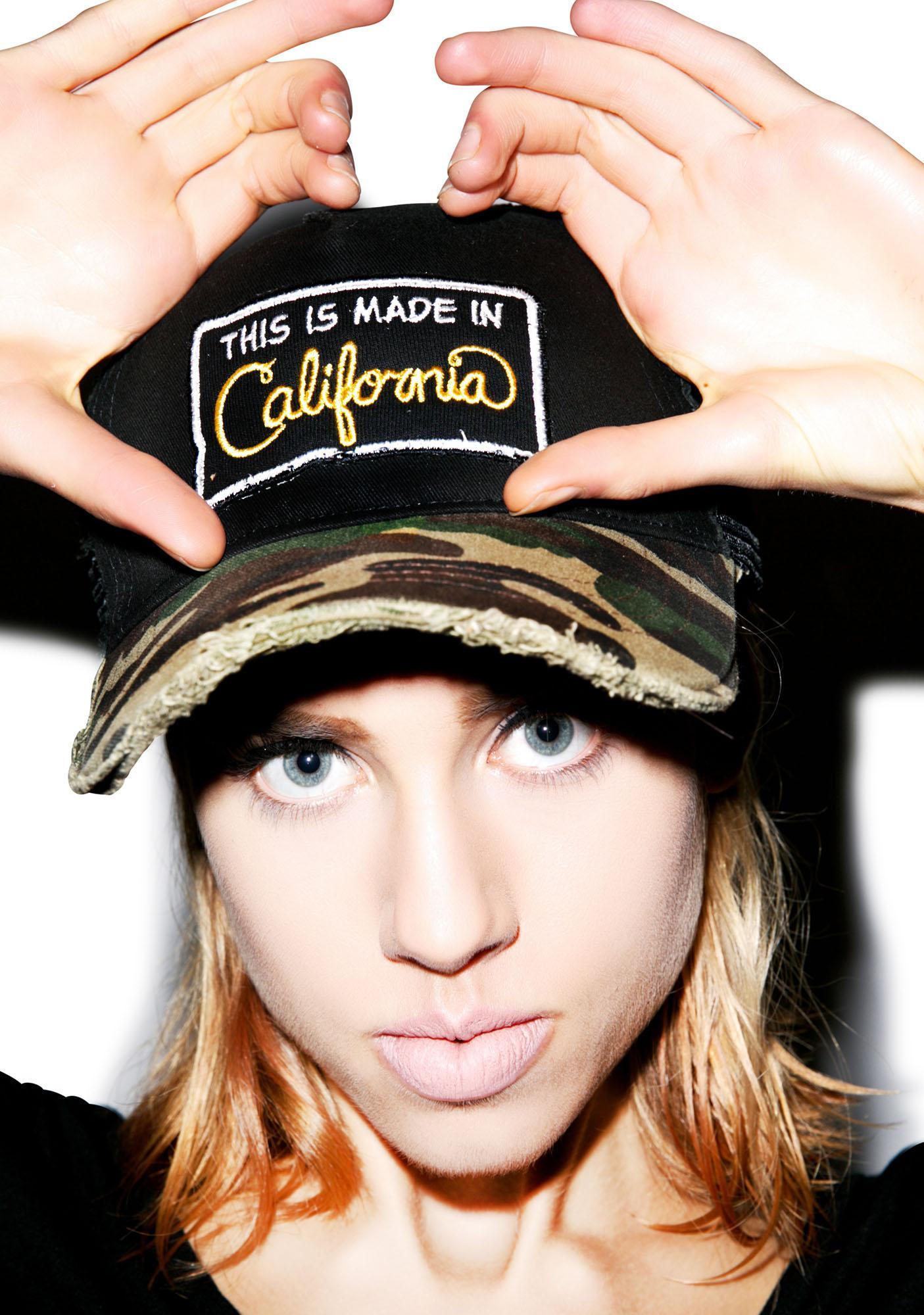 Lauren Moshi Jilly Cali Made Patch Trucker Hat