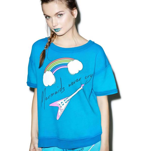 Wildfox Couture Mermaids Never Cry Frenchie Tee