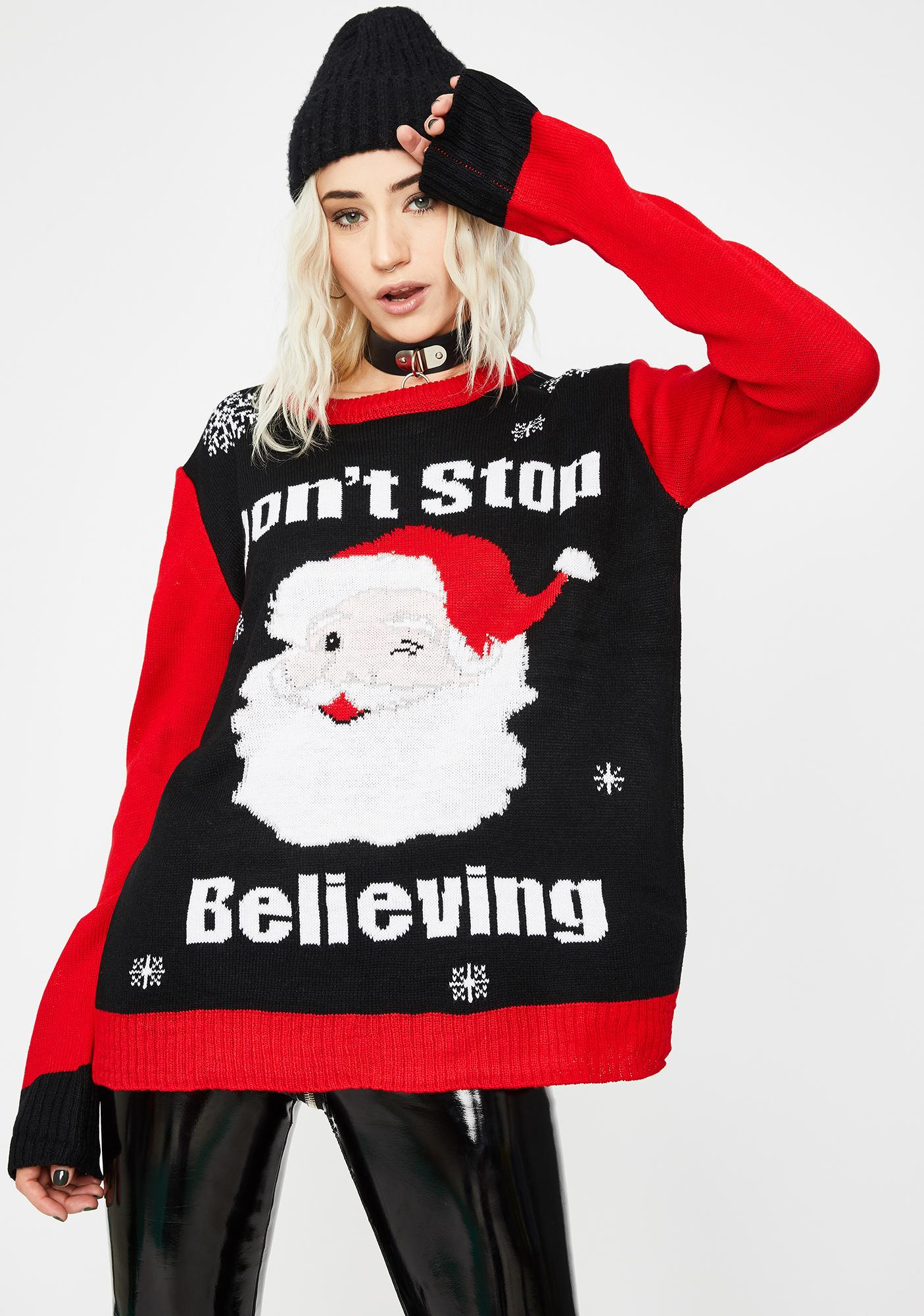 Santa's A Real One Holiday Sweater