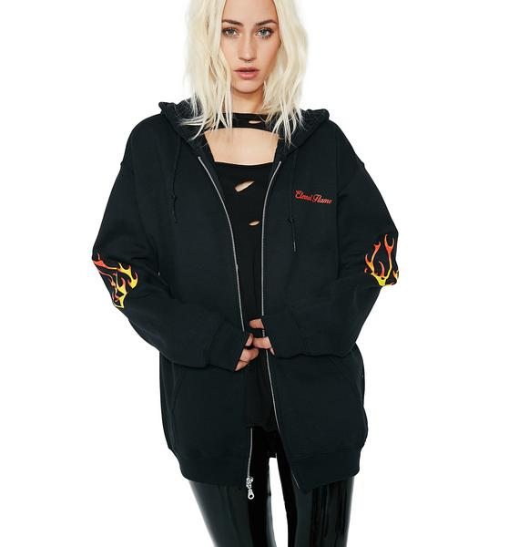 Petals and Peacocks Eternal Flame Hoodie