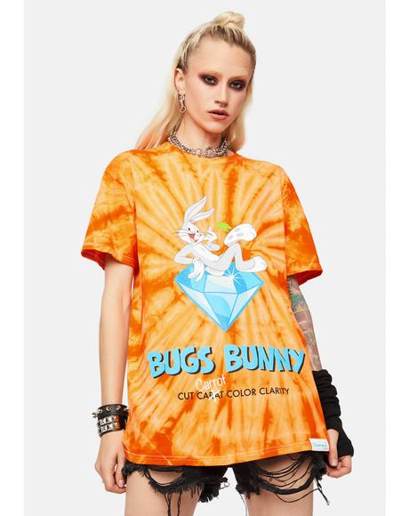 Carrot Tie Dye Graphic Tee