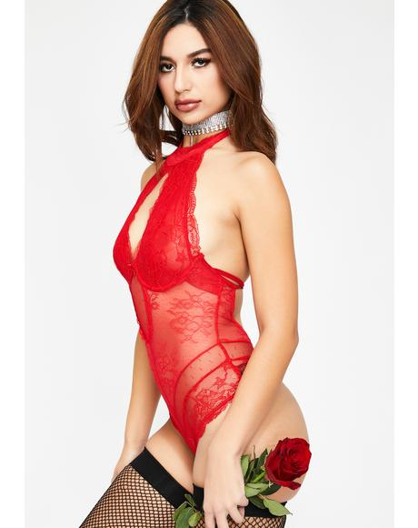 Girl On Fire Lace Bodysuit