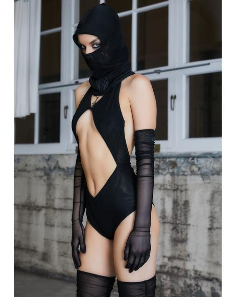 Kickdrum Hooded Cut-Out Bodysuit