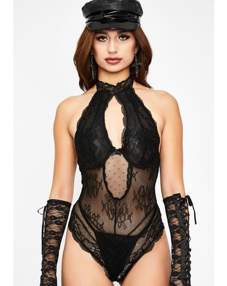Sinful Girl On Fire Lace Bodysuit