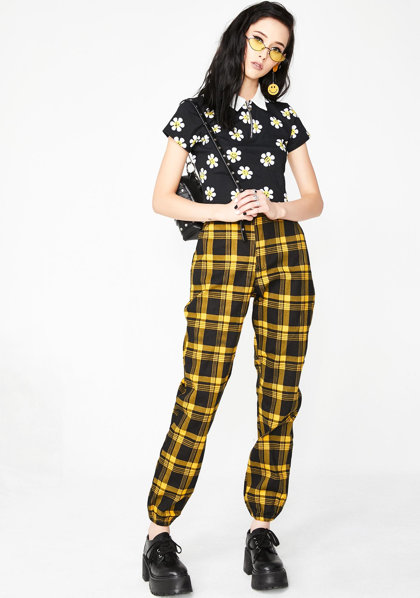 Misconduct Plaid Joggers