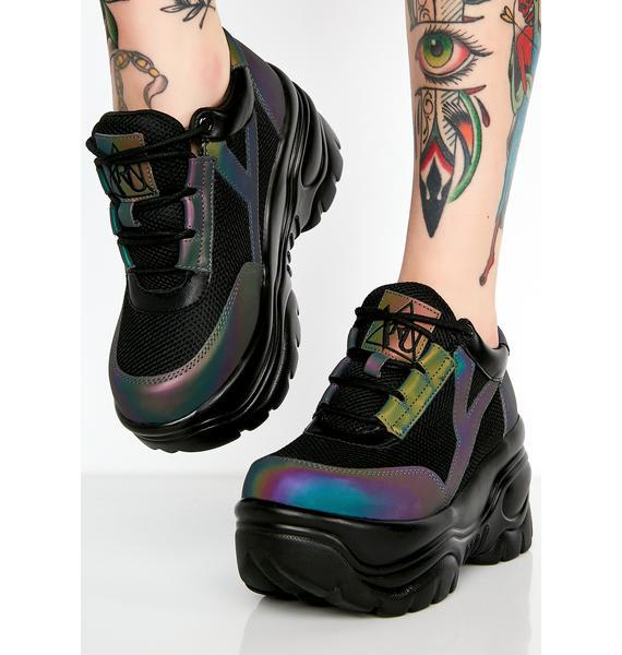 Y.R.U. Reflective Matrixx Platform Sneakers