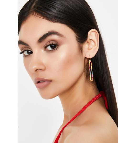 Drop It Low Rhinestone Earrings