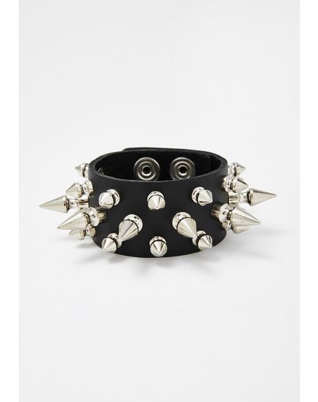Death Charge Spiked Bracelet