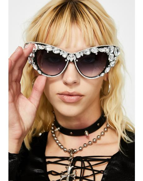 Rhinestone Royalty Cat Eye Sunglasses