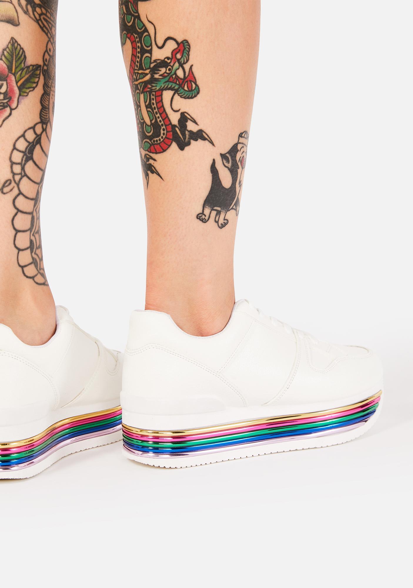Sugar Added Rainbow Sneakers