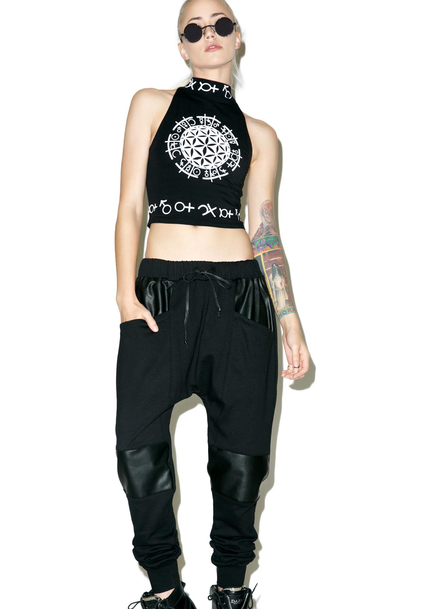 Widow Resurrection French Terry Drop Crotch Pants