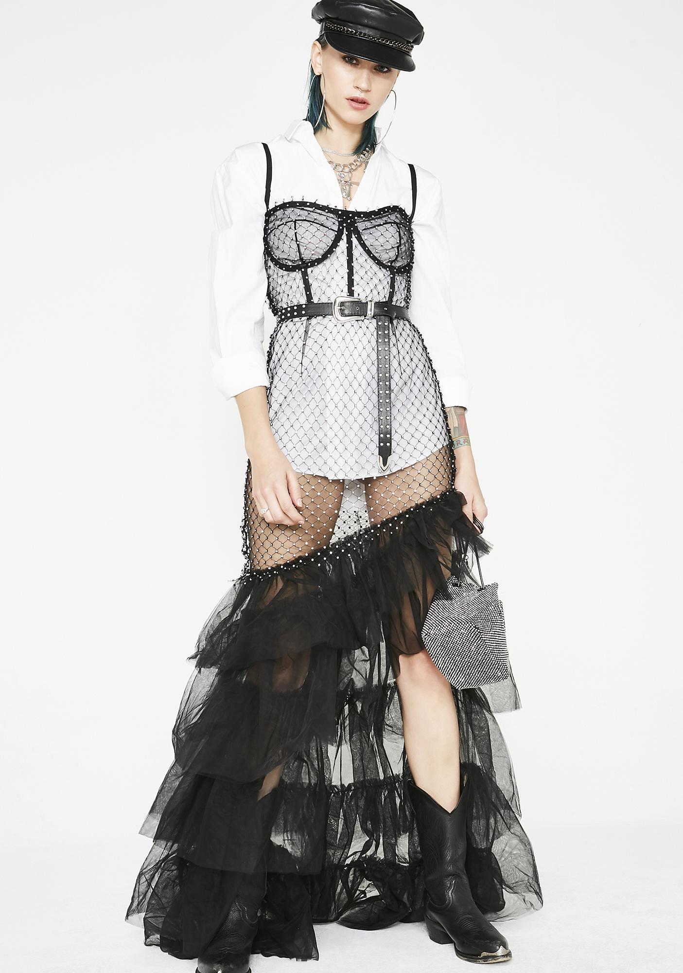 Kiki Riki Flamenco Bling Sheer Dress