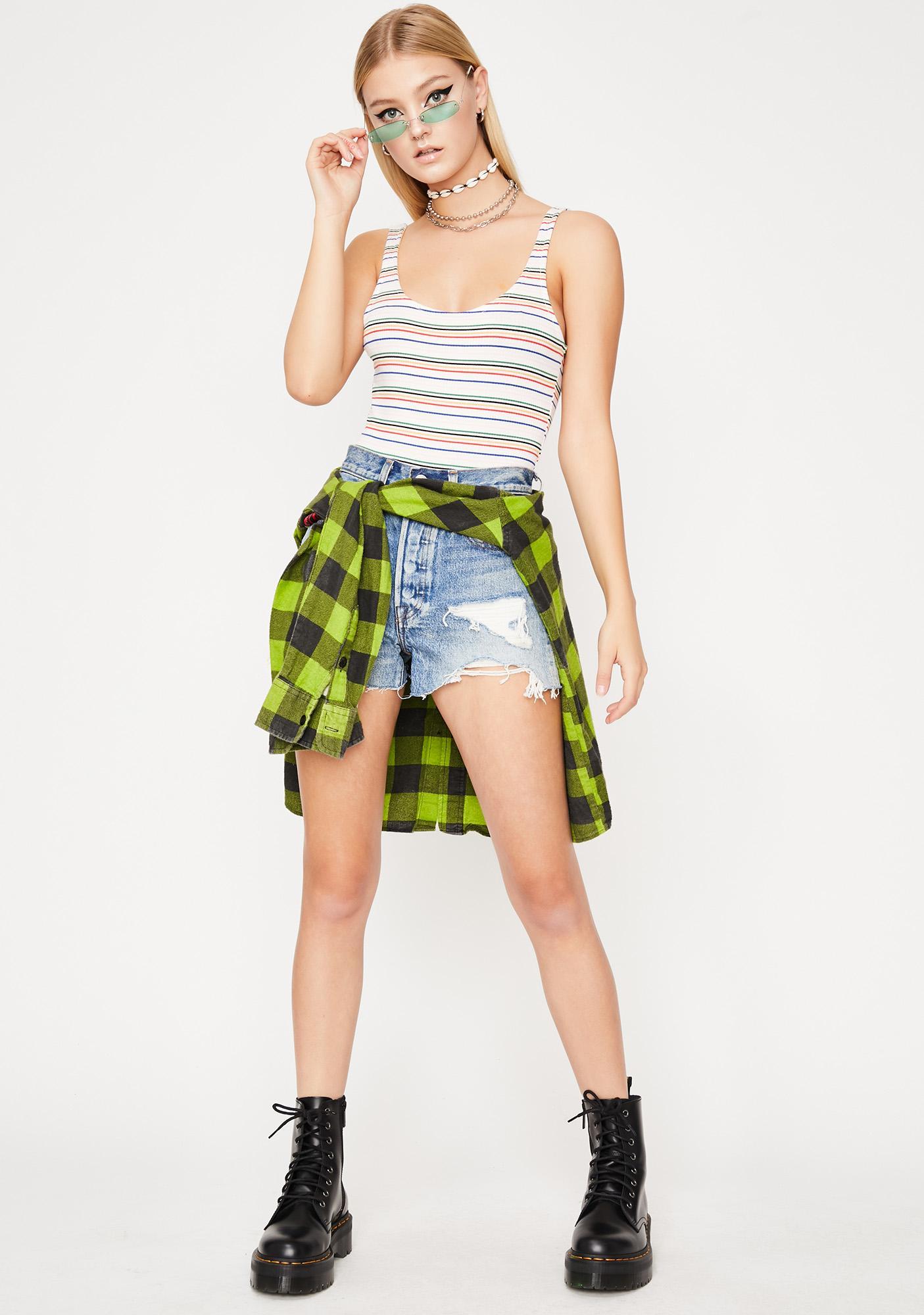 Festi Ready Striped Bodysuit