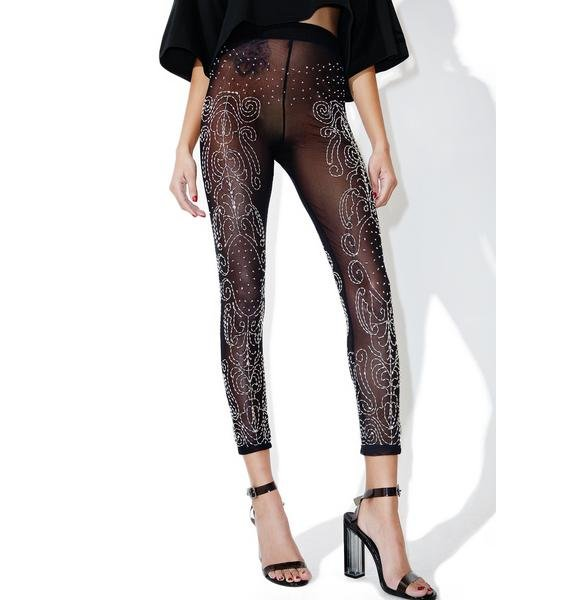 This Is A Love Song Sequin Mesh Leggings