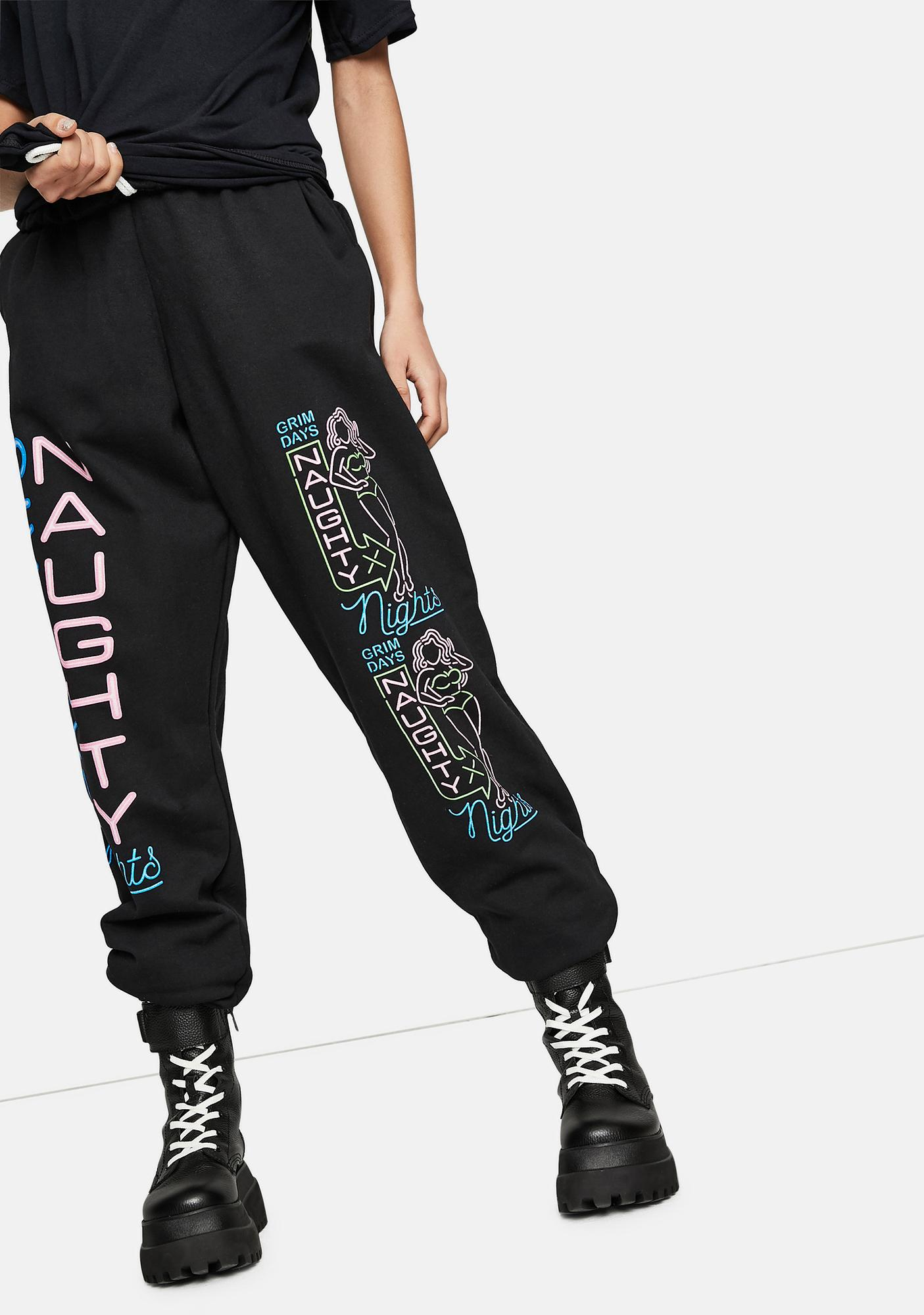 GRIM DAYS Naughty Graphic Sweatpants